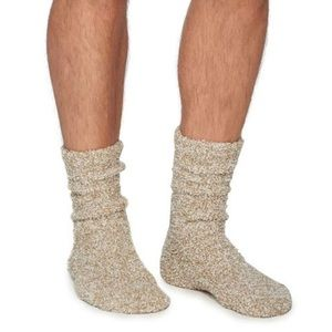 Barefoot Dreams Cozychic Heathered Men's Socks NWT